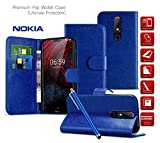Microsoft Lumia 435 Case | Leather Wallet Case Card Holder