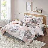 Home Essence Springfield Lightweight All Season Goose Down Alternative Fill Floral Comforter Set Bedding, Queen, Coral