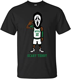 Scary Terry Rozier Scream Mask Boston Basketball Playoff Fan Black T-Shirt