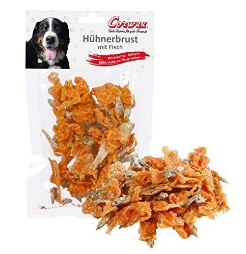 Corwex Hundesnack Hühnerbrust mit Fisch (9 x 70g)