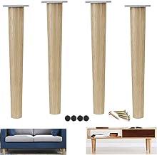 Set van 4 massief hout meubeldelen benen, ronde salontafel been, vervanging bank ondersteuning voeten, voor bed TV kabinet...