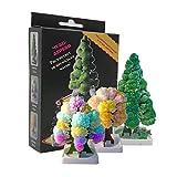 Nynel 3pcs/Kit Cristal Magique des Arbres de Noël,Jouets Magiques d'arbres Qui Poussent,Grandit en Quelques Heures, Cadeau de Noël créatif pour Un garçon ou Une Fille