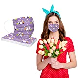 Alangbudu Easter 3-Layers Disposable Face M.Asks Dust Proof Non-Woven Easter Eggs Print M-ask Easter Basket_Masks For Adult Outdoor Sports (20PC)