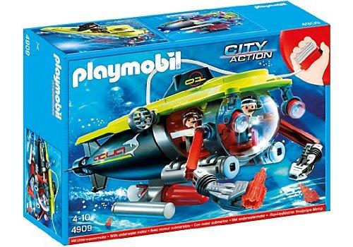 PLAYMOBIL - Submarino Alta mar Motor 4909