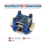 iFlight SucceX Micro F4 V2.1 Flight Tower System 2-4S F4 Flight Controller + 4 in 1 15A ESC BLHeli_S + 5.8G Pit/25/100/200mW Transmitter VTX for FPV Racing Drone Quadcopter