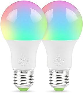 LVYIMAO E27 Smart Light Bulb, WiFi Bombilla inteligente Luz LED regulable 40W Bombilla equivalente Compatible con Alexa Google Home e IFTTT, control remoto por teléfono inteligente iOS y Android