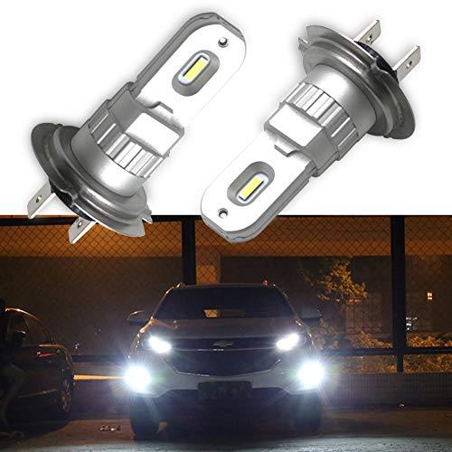 SAGESUNYY Bombilla led H7 ODB luces antiniebla Canbus DC 12V 1860 CSP chip 1200lm blanco puro 6000K Bombillas de reemplazo halógenas Luces diurnas LED H7: garantía de un año