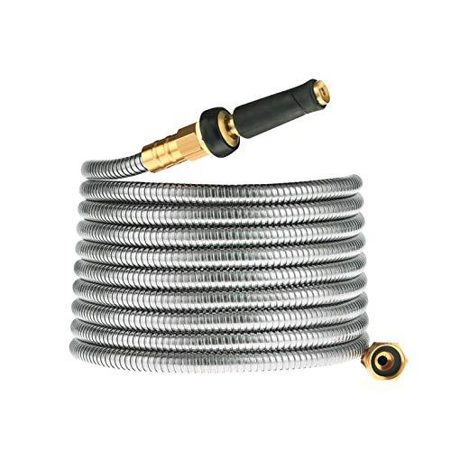 Cromtac Stainless steel 304 garden hose, no kink explosion, no bite (50ft)