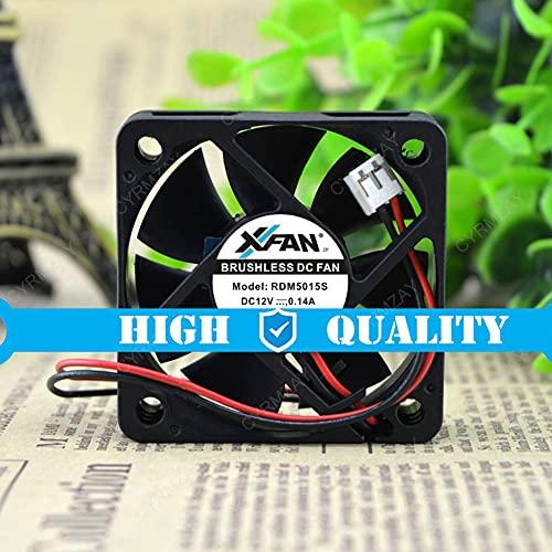 CYRMZAY Ventilador Compatible para XVentilador RDM5015S 12V 0.14A 5015 50 * 50 * 15MM Cooling Ventilador