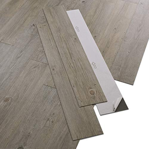 ARTENS - PVC Bodenbelag - Selbstklebende Dielen - Holz-Effekt - Braun/Grau - 2,23m²/16 Dielen