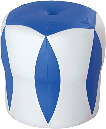 en stock QQXX Reposapiés Conjunto Completo Completo Completo Hogar PU Marco de Madera Maciza Multifunción Silencio Portátil Cilíndrico, 8 Colors (Color  azul, Tamaño  33x33x35cm)  gran descuento