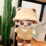 15cm 20cm KPOP EXO BaekHyun Plush Doll Clothes Outfit Bear Hat Tshirt Vest Pants 4pcs Suit Baby Doll's Accessories