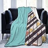 KENDIA Le Corbusier - Manta Decorativa Extra Suave, Ligera, Peluda, Manta de Microfibra, 50 x 40 Pulgadas