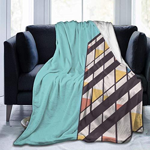 Lawenp Le Corbusier - Manta de Tiro súper Suave, cálida, acogedora, Ligera, para Cama, sofá, Funda de sofá, Sala de Estar, Manta Negra, 80 x 60 Pulgadas