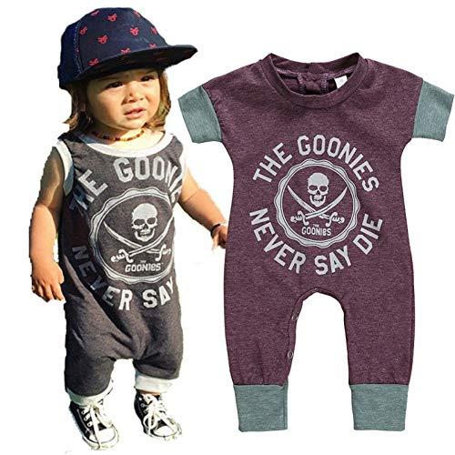 HFDJTAFS Bébé Barboteuses Enfants Mode Pirate Garçon Fille Combinaison Joyeux Anniversaire Fête Enfants Enfants Vêtements Pour 0-5Y Barboteuse