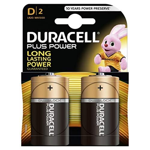 DURACELL Batterie Plus Typ LR20 2er Blister, Alkaline, 1,5V
