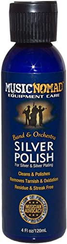 MusicNomad Silver Polish for Silver & Silver-Plated Instruments, 4 oz (MN701)