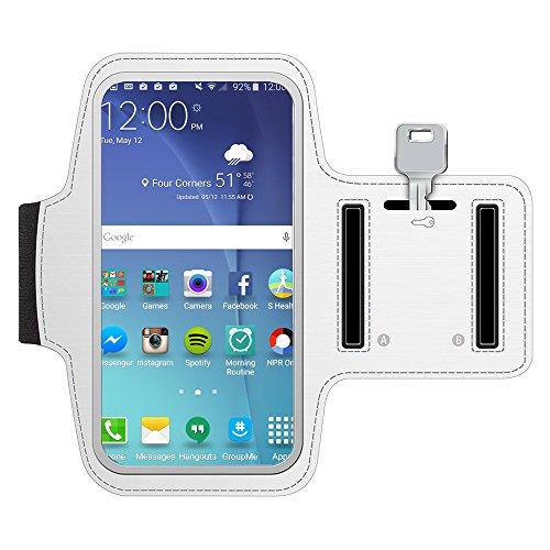 MMOBIEL Brazalete/Pulsera Deportiva Compatible con Samsung Galaxy S7 Edge / S7 / S6 Edge / S6 / S5 / S4-5.5 Pulgadas (Negra) Neopreno Ultra Ligero Tira reflejante