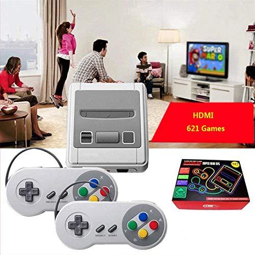 HUILING Mini Classic Spielekonsole, Plug & Play HD HDMI Spielekonsole Mini-TV-Spielekonsole Klassische Retro-Videospielkonsole TV-Gamecontroller mit 621 Integrierten Spielen (Color : 621 HD Version)