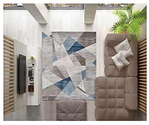 Alfombra Moderna Rubik   Pelo Corto   Ideal para Pasillo, Sala de Estar, salón   Tacto de Terciopelo Extra Suave (133_x_195_cm)