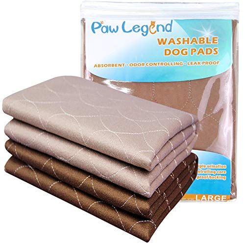 Paw Legend Waterproof Reusable Dog Pee Pads Super Absorbent (2 Pack) - Washable Dog Training Pads | Quality Travel Pee Pads for Dogs | Absorbent and Odor Controlling
