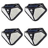 4 Pack Luz Solar Exterior 102 LED Lámparas Solares con Sensor de...