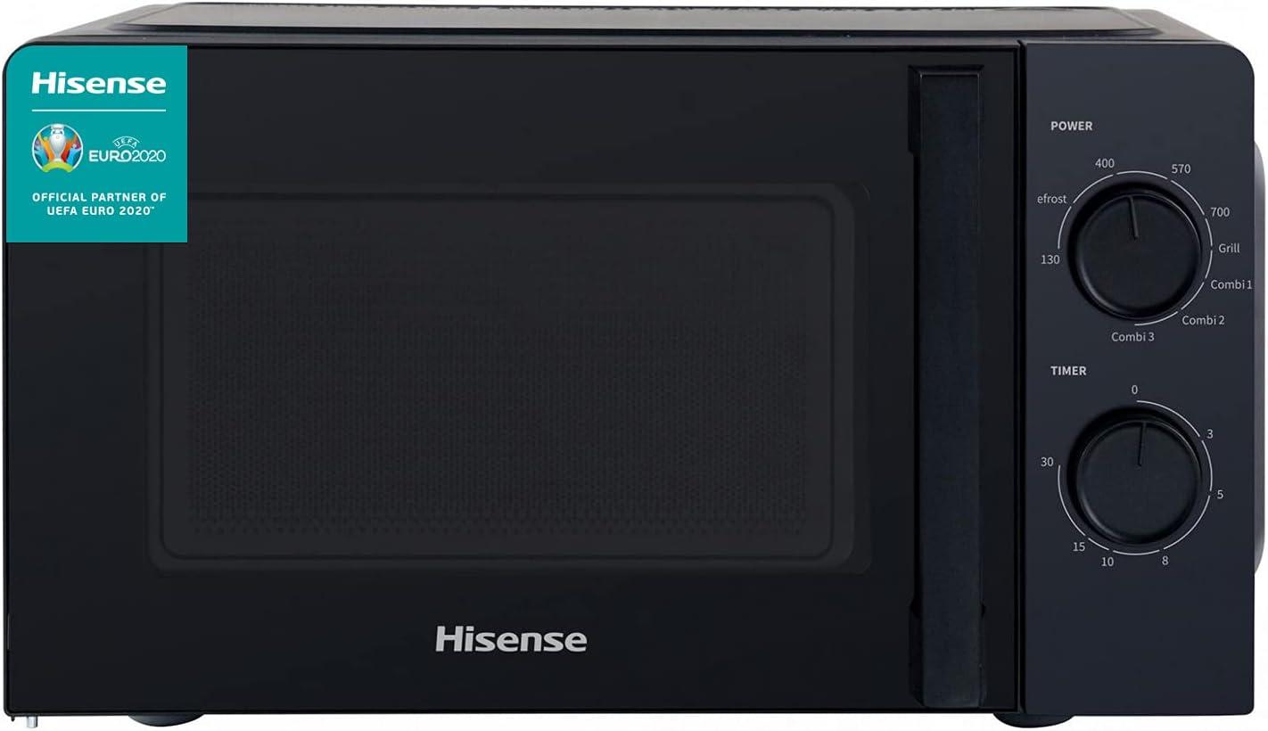 Hisense H20MOBS1HG - Microondas con Grill, Capacidad de 20 L