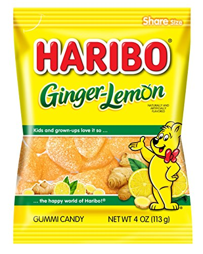 Haribo Gummi Candy, Ginger-Lemon, 4 oz. Bag (Pack of 12)