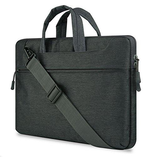 """GADIEMENSS Water-resistant Laptop Shoulder Briefcase Bag Portable Computer case handbag 15.6"""" Black"""