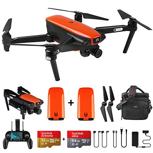 Autel Robotics EVO Foldable Drone with Camera,Live Video Drone with 60FPS 1080P 4K Wide-Angle Lens and Three-Way Obstacle Avoidance (EVO+Extra 1 Battery)
