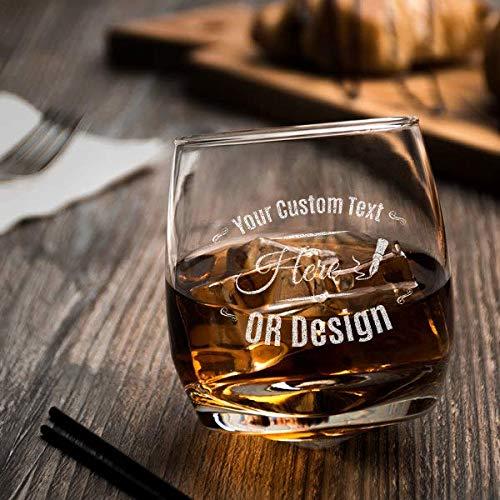 Personalized Acopa 9.5 oz. Rocking Rocks Whiskey Glass, Customized Old...