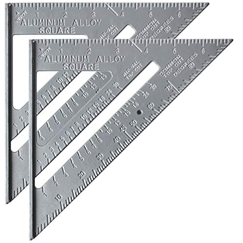 Mr. Pen Metal 7 Inches Rafter Square, Carpenter Square, 2 Pack