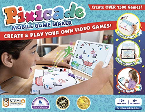 pixicade: Transform Creative Drawings to Animated Playable Kids Games On Your Mobile Device - Build...