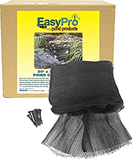 EasyPro NP2030 Premium 3/4-Inch Pond Cover Netting, 20' x 30' with 10 Stakes