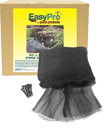 EasyPro NP1515 Filet de protection pour bassin de qualité supérieure 1,9 cm x 4,5 m avec 8 piquets