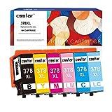 CSSTAR 378XL Cartucce d'inchiostro Compatibile per Epson Expression Photo XP-8500 XP-8505 XP-15000 Stampante - Nero, Ciano, Magenta, Giallo, Ciano Chiaro, Magenta Chiaro
