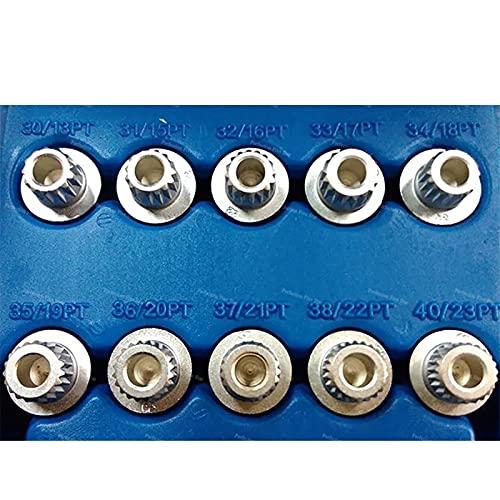 1 unids 13teeth - 23teeth Anti-Robo Rueda Bolt Cerruche Adaptador de teclas / Ajuste para BMW 1 3 5 6 7 / Fit for Series Mini x1 x2 x3 x4 X5 X6 Serie Duradero y rentable ( Color Name : 34 18 teeth )