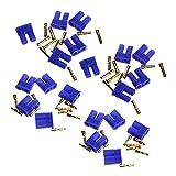 OUYBO 10 pares de EC2 2.0mm RC Lipo conector de la batería de bala de oro enchufe de plátano macho y hembra Accesorios de batería de piezas RC