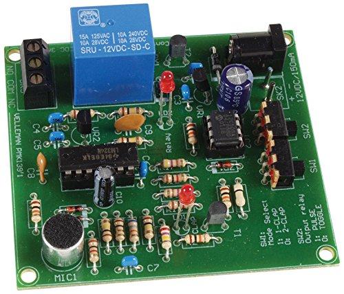 VELLEMAN - MK139 Geräuschschalter, Klatschschalter, 12V DC, Mini-Kit 840277