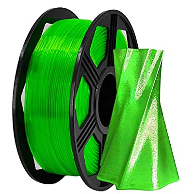 YOYI 3D Printer Filament,PETG Filament 1.75mm 2.2lbs(1kg) Spool, Dimensional Accuracy +/- 0.03 mm,100% Europe Raw Material (Green)