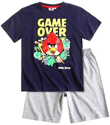 Angry Birds - Pijama dos piezas - para niño gris 4 años