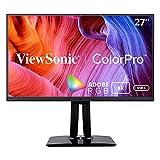 Viewsonic VP2785-4K 68,6 cm (27 Zoll) Fotografen Monitor mit Kalibrierfunktion (4K, IPS-Panel, 99% AdobeRGB, HDR10, Höhenverstellbar, USB-C) Schwarz