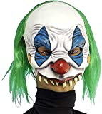 Forum Novelties Scary Clown Mask Face Mask with Hair