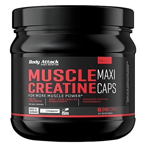 Body Attack Muscle Creatine - 240 Maxi-Caps