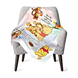 Winnie The Pooh Baby Blanket Super Soft Blanket Fleece Toddler Blanket with Sloth for Kids 30 X 40 Inch