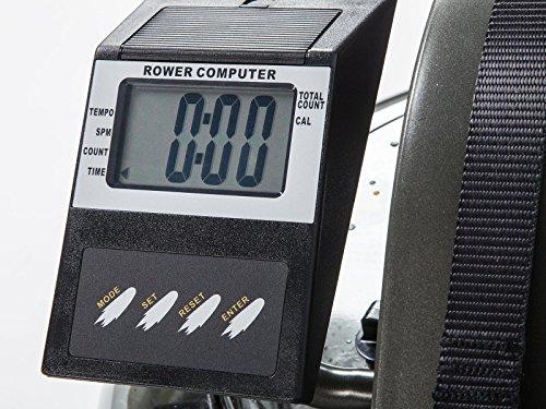 skandika SF-1750 Nemo Wasser-Rudergerät mit justierbaren Flüssigkeitswiderstand für gelenkschonendes Training und LC-Display - 5