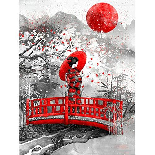Rompecabezas para adultos hecho a mano de 1000 piezas, rompecabezas de geisha japonesa, de madera adecuado para la decoración del hogar y regalos 75x50cm