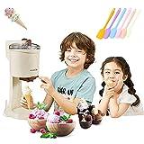 HT Heladera con compresor, máquina de helado automática para el hogar, 1 litro de capacidad, ideal para los niños, dulce...