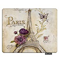 Nicokee Eiffel Gaming Mousepad Vintage Paris Themed Bluish Brown Eiffel Tower Mouse Pad Rectangle Mouse Mat for Computer Desk Laptop Office 9.5 X 7.9 Inch Non-Slip Rubber [並行輸入品]