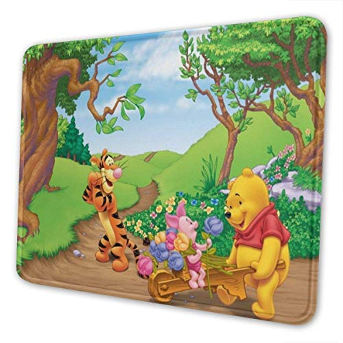 Winnie Pooh Mouse Pad with Stitched Edge Premium-Textured Mouse Mat Rectangle Non-Slip Rubber Base Oversized Gaming Mousepad,for Laptop & PC 10 x 12 inch